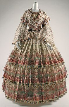 Pattern is very busy in my opinion---1850 Ensemble at the Metropolitan Museum of Art, New York