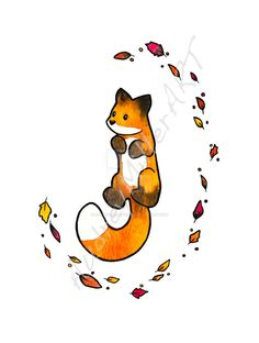 """""""The Fox and The Leaves"""" was originally done in gouache with ink detailing. All artwork is original by AudreyMillerART. All watermarks will be removed on the final product. If you are interested in..."""