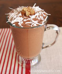 German Chocolate Cake Smoothie!   -  from the FREE Dessert SuperSmoothies eBook from VeganSparkles.com