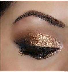 Gold eye make up (UD Naked Palette)