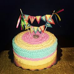 Ruffles cake. Vanilla Dominican cake