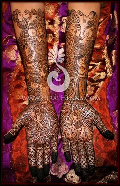 Pinky's mehndi, via Flickr.