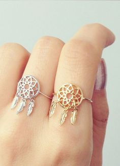 Dream catcher catchers ring rings jewellery. Hippy hippie boho bohemian gypsy style accessories. For more follow www.pinterest.com/ninayay and stay positively #inspired - red accessories jewellery, southwest jewelry, online fine jewelry *sponsored https://www.pinterest.com/jewelry_yes/ https://www.pinterest.com/explore/jewellery/ https://www.pinterest.com/jewelry_yes/personalized-jewelry/ https://www.jewelry.com/