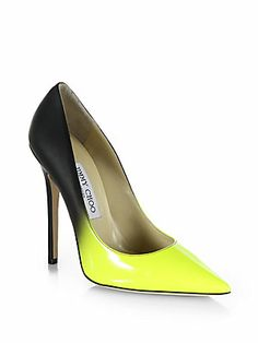 What a great morning seeing Jimmy Choo's new fall line :) . Anouk Leather Degrade Pumps