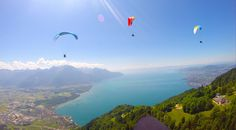 Paragliding Riviera, Vaud, Switzerland Paragliding, Switzerland, Activities, Mountains, Nature, Travel, Naturaleza, Viajes, Destinations