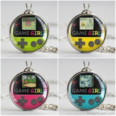 Geek test: Guess the game on each necklace! #gameboy #treatsforgeeks