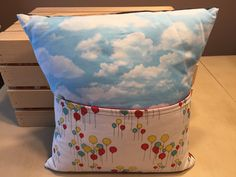 Balloons & Clouds Pocket Pillow by thescrappyquilter22 on Etsy