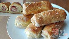 Kynuté domáce rohlíky bez kynutí Hot Dog Buns, Hot Dogs, Nutella, Food And Drink, Bread, Brot, Baking, Breads, Buns