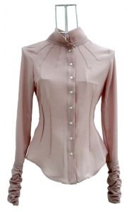 SOPHIA chemise cintrée fluide crepe rose