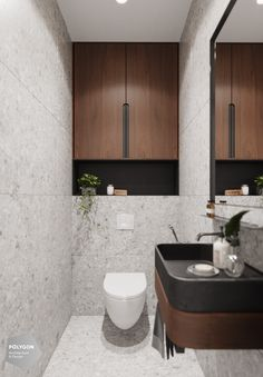 Roma Verbishchuk on Behance Bathroom Layout, Modern Bathroom Design, Bathroom Interior Design, Home Interior, Washroom Design, Interior Plants, Small Toilet Room, Small Bathroom, Wc Decoration