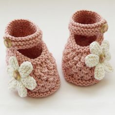 Hand Knitted Baby Shoes-Booties - Folksy