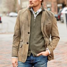 Men's Coats And Jackets, Outerwear Jackets, Retro, Suede Jacket, Suede Blazer Mens, Jacket Style, Men Casual, Mens Fashion, Latest Fashion