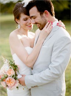 Peach and Cream Wedding