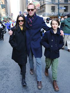 Star Tracks: Monday, March 9, 2015 | STROLL-ER DERBY | Jennifer Connelly, husband Paul Bettany and their son Stellan, 11, take a stand Sunday during the 2015 International Women's Day March in N.Y.C.