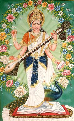 Saraswati is the Hindu goddess of knowledge, music, arts and science. She is the companion of Brahma, also revered as his Shakti (power). It was with her knowledge that Brahma created the universe. She is a part of the trinity of Saraswati, Lakshmi and Parvati. All the three forms help the trinity of Brahma, Vishnu and Shiva in the creation, maintenance and destruction of the Universe.