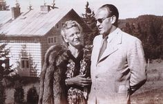 Oskar Schindler with his wife
