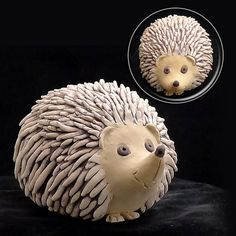 Quincy the African Pygmy Hedgehog Pottery by HedgehogLounge, $32.00