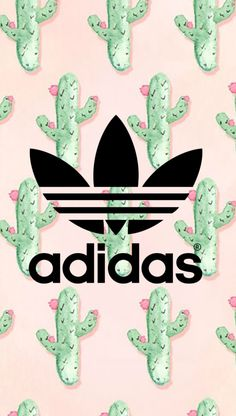 Adidas cactus wallpaper  - -designed by me