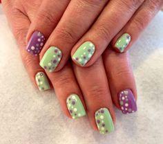 Dots Summer Nails 2014, Nails By Lisa, Dots, Stitches