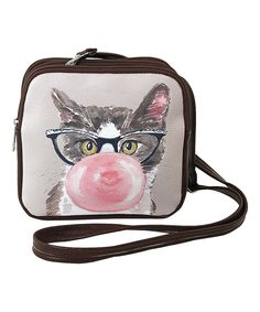 This Tan Cat Square Crossbody Bag by Sleepyville Critters is perfect! #zulilyfinds