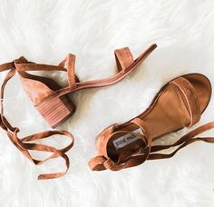 suede wrap sandals