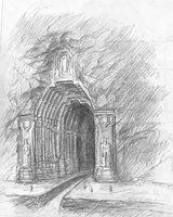 Front Gate sketch by TurnerMohan