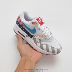 best quality 72219 c37fa Parra x Nike Air Max 1 2018 White Multi-Color AT3057-100 Air