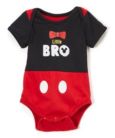 Childrens Apparel Network Mickey Mouse Red & Black Little Bro Bodysuit - Infant Disney Deals, Disney Fun, Geek Baby, Baby Fever, Future Baby, Baby Boy Outfits, Little Boys, Mickey Mouse, Red Black
