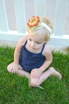 "All Things Bright and Beautiful: Preview ""Crochet Flower Headband Pattern"""