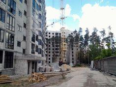 ЖК Эко Парк в Петропавловской Борщаговке ход строительства тыльная сторона
