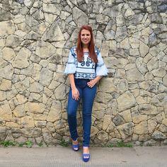 To numa fase apaixonada por jeans com jeans!! Look lindo da @damyller  #meujeansdamyller #publi