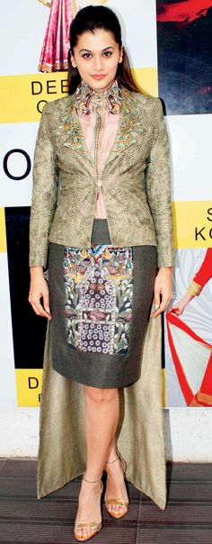 Taapsee Pannu at a fashion preview. #Bollywood #Fashion #Style #Beauty