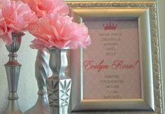 Princess's sign decor