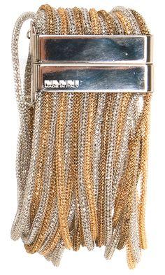 Nanni Silver and Gold Tone Bracelet -  #accessories