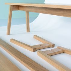 No glue, no screws - flat pack furniture just got interesting. Ambrose A Frame Bench by Matt Elton   Benches   Chairs & Stools   Furniture   Heal's