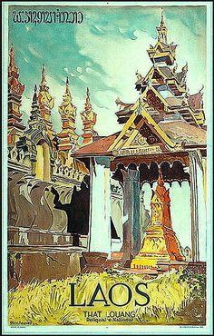 #vintageposter #travel #laos