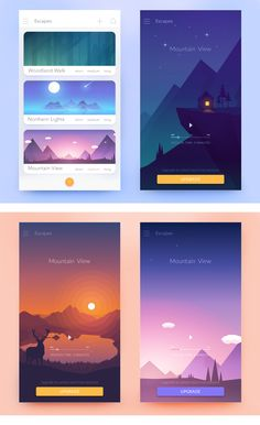 Design #85 by Molecula | Meditation App UI design