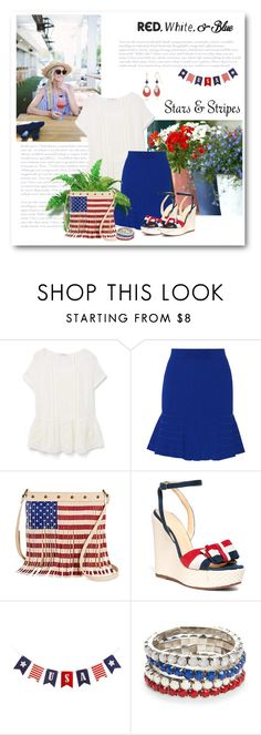 """Red,White and Blue"" by bliznec ❤ liked on Polyvore featuring MANGO, Sandro, Brooks Brothers, Red Camel and Silver Forest"