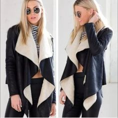 Triste Buio Draped Leather Jacket Triste Buio (Italian for Black) Leather Irregular Mod Draped Jacket with wool & fleece lining. Size Medium. Very fashionable. Bought from Zara Italy Sample Sale. New. Please send reasonable offers through the offer button! Zara Jackets & Coats Capes