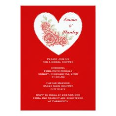 Hearts And Swirls Engagement Party Invitation Valentine S Day