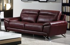 Choosing A Leather Sofa. Improve your interior decor with a brand new sofa. Because there are many variations from which to choose choosing the right sofa can often be difficult. It is usually smart to check out several ideas before selecting a sofa. Leather Loveseat, Leather Reclining Sofa, Contemporary Sofa, Comfy Sofa, Couch Furniture, Leather Sofa, Diy Sofa, Living Room Leather, Genuine Leather Sofa