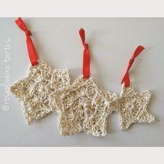 Tecendo Artes em Crochet: Estrelinhas Fofas que Fiz!