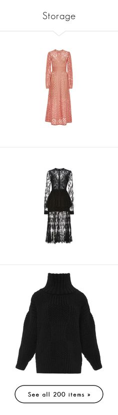 """Storage"" by amberelb ❤ liked on Polyvore featuring dresses, elie saab, gowns, lace dress, red long sleeve dress, midi dress, lace a line dress, long sleeve lace dress, black dress and long-sleeve midi dresses"