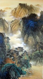 Page 3 Buy Chinese landscape paintings from China & World's Largest Online Chinese Painting Gallery. Asian oriental landscape paintings for sale. Chinese Landscape Painting, Chinese Painting, Chinese Art, Landscape Paintings, Landscapes, Korean Art, Asian Art, Chinese Mountains, Paint Photography