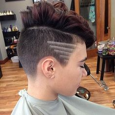 Long side shaved rocker hairstyles for women hair for Shave before tattoo