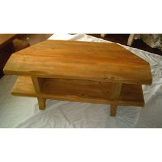 Hand Made Rustic Corner Tv Stand - Solid Wood Stained In Antique Pine
