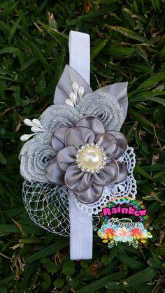Fabric Flower Headbands, Cute Headbands, Baby Girl Headbands, Baby Bows, Fabric Flowers, Baby Girl Hair Accessories, Handmade Hair Accessories, Baby Hair Bands, Material Flowers