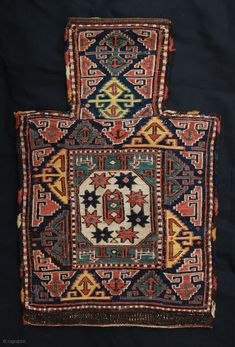 "A fabulous 19th Century Shahsevan Salt-Bag from the Moghan Region of Azerbaijan in excellent condition - very rare and collectable. 61cm x 40cm (2' 0"" x 1' 4"")."