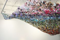 A Beautiful Rainbow Wave of Paper Origami - My Modern Metropolis