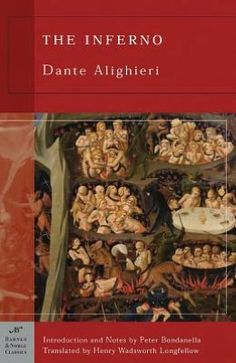Dante's Inferno by Dante. While reading this in college's Humanities course, I was intrigued by Dante's nine circles of suffering and the punishments dished out for instances of poetic justice. [Gina]